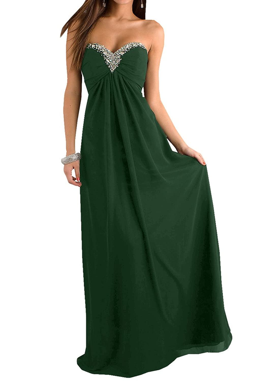 TOSKANA BRAUT Sweetheart Empire Chiffon Abendkleider Lang Brautjungfern  Fest Ballkleider: Amazon.de: Bekleidung