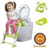 Baby : AGU Limited SALE - Potty Training Seat - Potty Chair - PERFECT Potty as a GIFT - STURDY Potty Seat with Step Ladder plus Toilet Seat Plate for Boys and Girls - Potty Stool with Handles' Stoppers