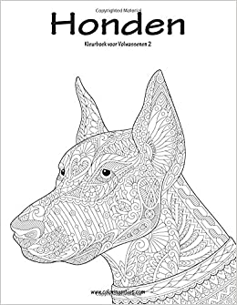 Honden Kleurboek voor Volwassenen 2 (Volume 2) (Dutch Edition) [Large