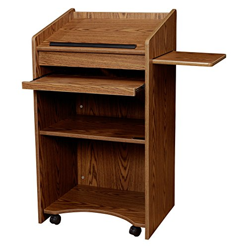 Oklahoma Sound Aristocrat Floor Lectern, Medium Oak for sale  Delivered anywhere in USA