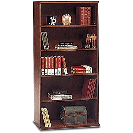 Bush Series C Open Double Bookcase Dimensions 72 834 H X 35 590 W X 15 354 D Two Fixed Shelves For Stability Three Adjustable Shelves For Flexibility Hansen Cherry