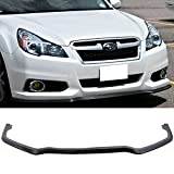 Front Bumper Lip Fits 2013-2014 Subaru Legacy | SM Style Black PU Front Lip Finisher Under Chin Spoiler Add On by IKON MOTORSPORTS