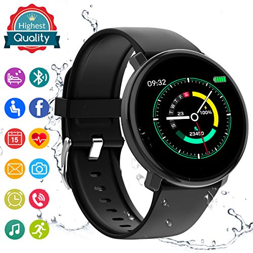 Smart Watch,Fitness Watch Activity Tracker with Heart Rate Blood Pressure Monitor IP67 Waterproof Sports Fitness Tracker Watch Smart Bracelet Wristband for Android iOS Phones Men Women - Watch Heart Tech