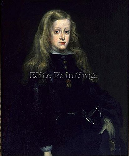 CARRENO MIRANDA JUAN KING CHARLES II SPAIN ARTIST PAINTING OIL CANVAS REPRO DECO 24x20inch MUSEUM QUALITY by Elite-Paintings