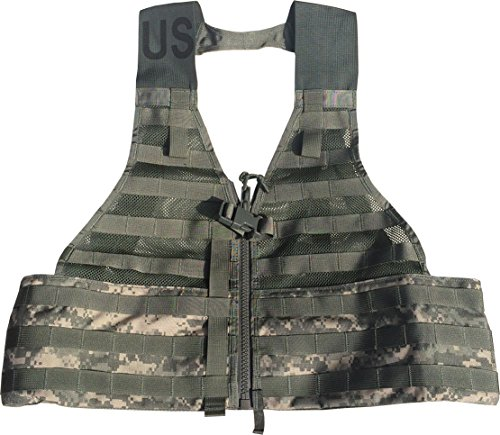ad Carrier Load Bearing Vest (FLC) Made in USA (ACU Camo) ()