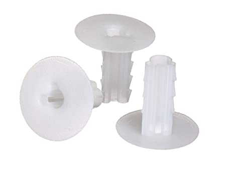 the cimple co single feed thru bushing (white) rg6 feed through bushing (grommet) replaces wallplates (wall plates) for coax coaxial cable, cable wall grommet cord grommet desk wire grommet