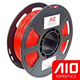 AIO Robotics AIORED PLA 3D Printer Filament, 0.5 kg Spool, Dimensional Accuracy +/- 0.02 mm, 1.75 mm, Red