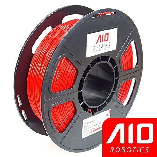 AIO Robotics AIORED PLA 3D Printer Filament, 0.5 kg Spool, Dimensional Accuracy +/- 0.02 mm, 1.75 mm, Red by AIO Robotics