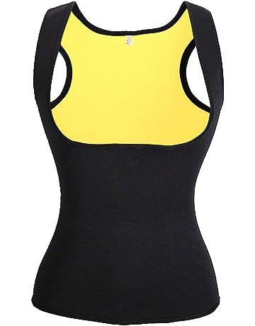 4d0c7f3d064d NHEIMA Faja Reductora Mujer Camisetas Sauna Adelgazantes para Mujer Chaleco  de Neopreno Corset para Sudoración,