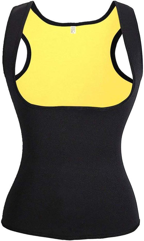 NHEIMA Faja Reductora Mujer Camisetas Sauna Adelgazantes para Mujer Chaleco de Neopreno Corset para Sudoración, Quema Grasa, Faja Abdomen