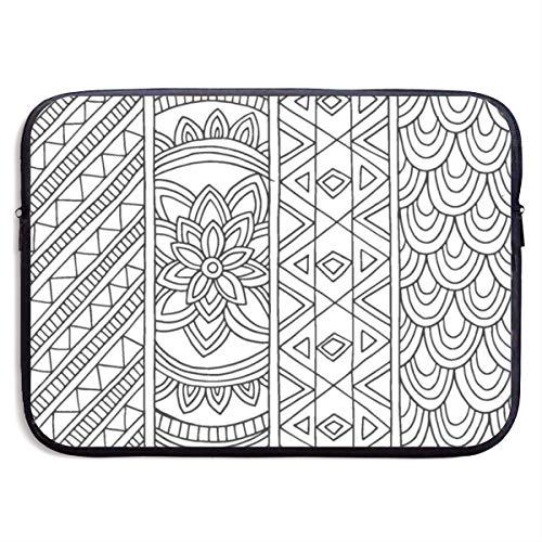 Yuximspd Black and White Wallpaper 13-15 Inch Laptop Sleeve Bag Printing Neoprene Carrying Bag (League Of Legends Wallpaper Black And White)