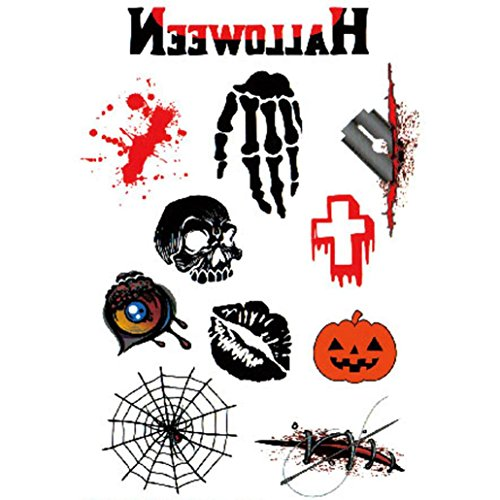 Raven X Men Halloween Costume (Tattoos Sticker, Oksale® Wound Scab Blood Halloween Scar Decor Paper Temporary)