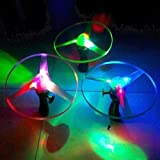 Estone® 1pc Spin LED Light Outdoor Toy Frisbees Boomerangs Flying Saucer Helicopter UFO