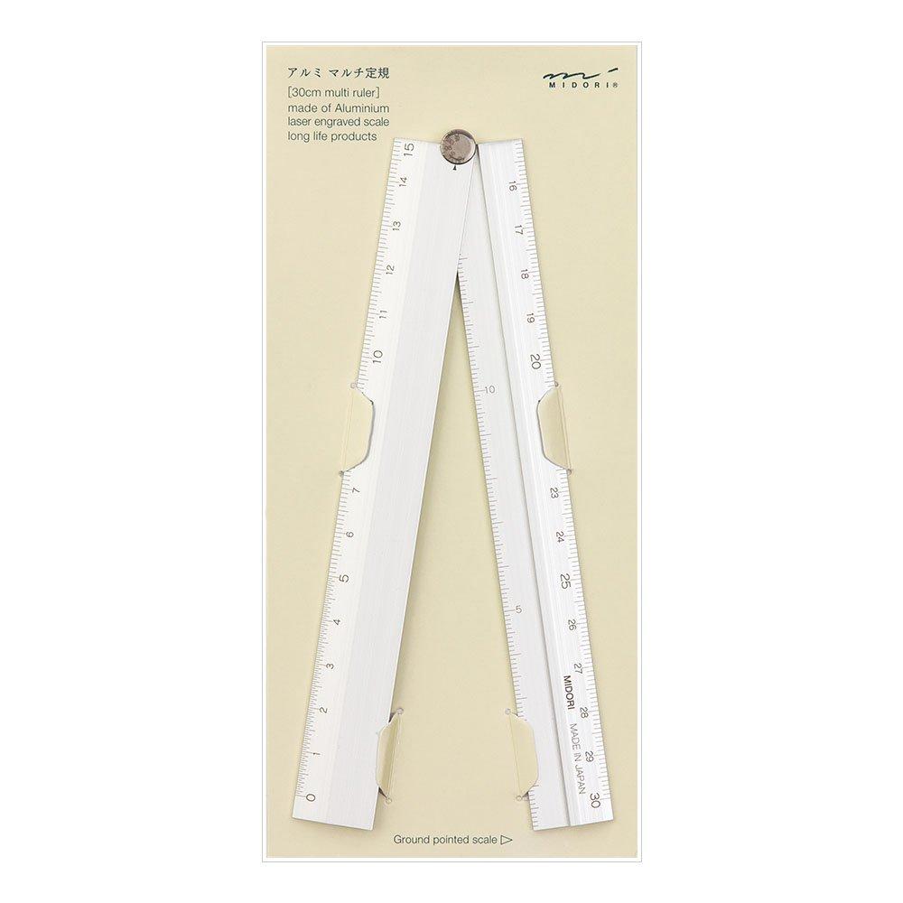 Midori Multi Aluminium Ruler 30cm Silver (42253006)