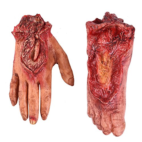 Halloween Severed Hand and Foot Set Cut Off foot and Hand Set Scar … -