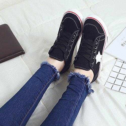Ochenta Damesschoenen Met Sleehak Platform Met Hoge Hakken Sneaker Pump Schoenen # 3 Zwart