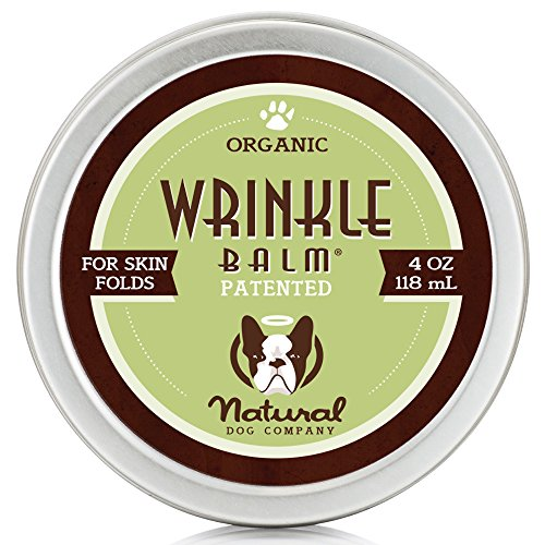 Natural Dog Company - Wrinkle Balm | Protects Dog's Skin Folds, Treats Dermatitis, Redness, Chafing, Inflammation | Organic, All-Natural Ingredients, Perfect for Bulldogs | 4 Oz Tin