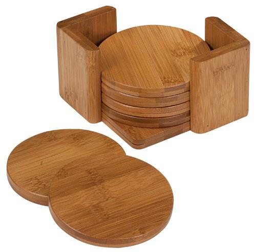 (Bamboo Coaster Set 3.75