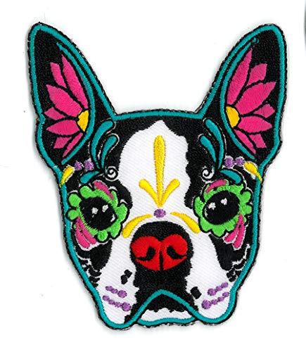 Bulldogs Furniture - CALI Original Artwork, Pretty in Ink French Bulldog - Embroidered Iron On Patch, 3.5