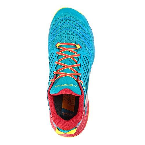La Sportiva Akasha rojo y azul calzado de Trail
