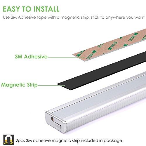 -[ Motion Sensor Light, LOFTer 56LED 2250mAh Rechargeable Battery Upgraded Wireless PIR Motion Acti