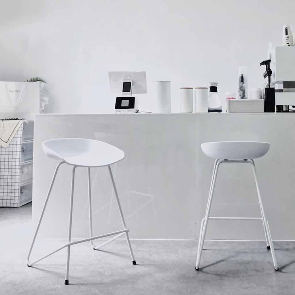 Amazon.com: Taburete de bar para cocina, metal, desayuno ...