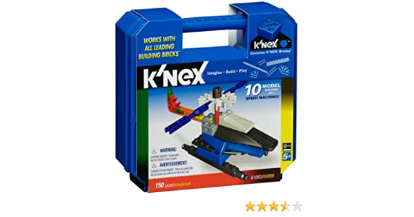 154 pcs K/'NEX 61003 KNEX Speed Machines 10 Model Building Set