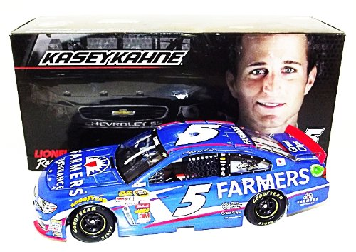 AUTOGRAPHED 2014 Kasey Kahne #5 FARMERS INSURANCE (Hendrick) Lionel 1/24 NASCAR SIGNED Diecast Car w/COA (#1229 of only 1,800 produced!)
