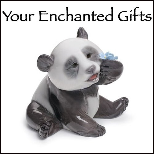 Lladro A Happy Panda Porcelain Figurine by Lladro