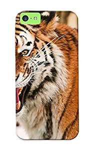 Iphone 5c Case Cover Roar Animals Cats Tiger Face Eyes Pov Paern Stripes Wildlife Predator Case - Eco-friendly Packaging