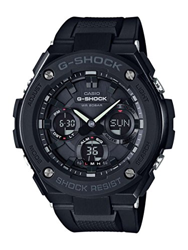 Casio-Mens-G-SHOCK-Quartz-Stainless-Steel-and-Resin-Casual-Watch-ColorBlack-Model-GST-S100G-1BCR