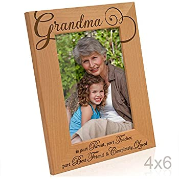 Amazoncom Kate Posh Grandma Picture Frame Engraved Natural