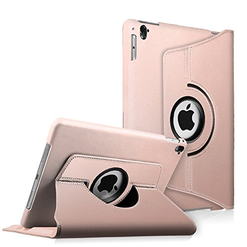 Fintie iPad Pro 9.7 Case - 360 Degree Rotating Stand Case with Smart Cover Auto Sleep / Wake Feature for Apple iPad Pro 9.7 Inch (2016 Version), Rose Gold