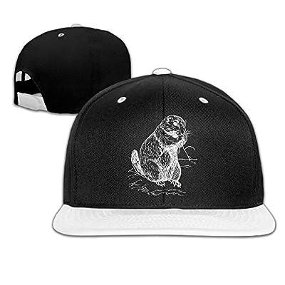 AJHGD Woodchuck Unisex Hiphop Flat Brim Snapback Caps Plain Cotton Baseball Cap for Women