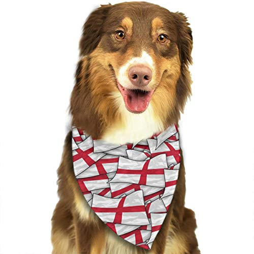 OURFASHION England Flag Wave Collage Bandana Triangle Bibs Scarfs Accessories for Pet Cats and Puppies.Size is About 27.6x11.8 Inches (70x30cm). ()