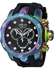 Invicta Mens 15984 Venom Analog Display Swiss Quartz Black Watch