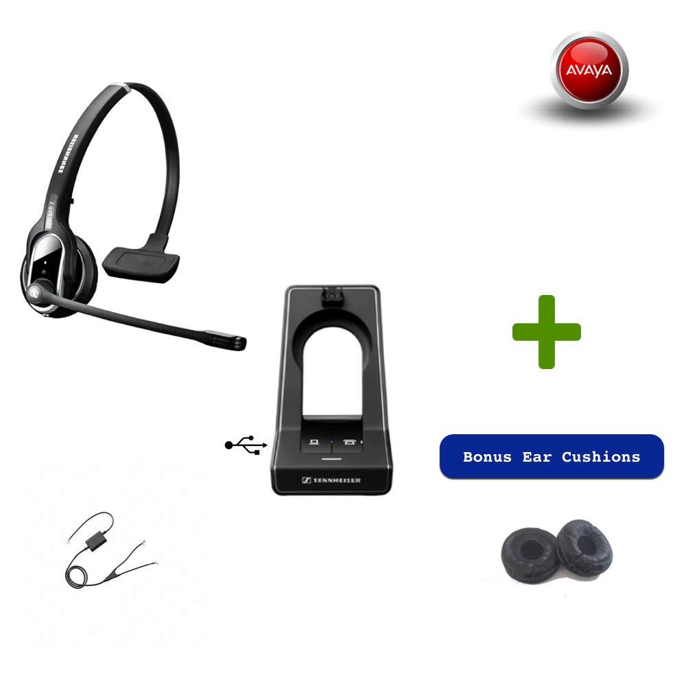 Sennheiser SD PRO1 - Deskphone Cordless Headset with Avaya EHS Adapter | Compatible Avaya Models: 1400, 9400 & 9500 Series