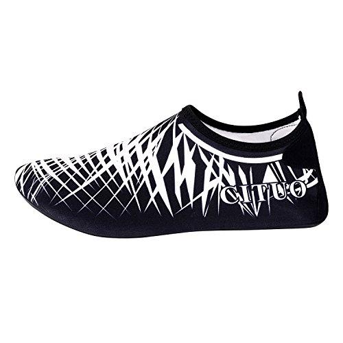UPhitnis Quick-Dry Männer Frauen Kinder Aqua Socken Schuhe, leichte Haut Schuhe, Barfuß Unisex Wasser Schuhe für Beach Surf Yoga Schwimmen Schnorcheln Walking Lake Garden Park Fahrübung Weiß
