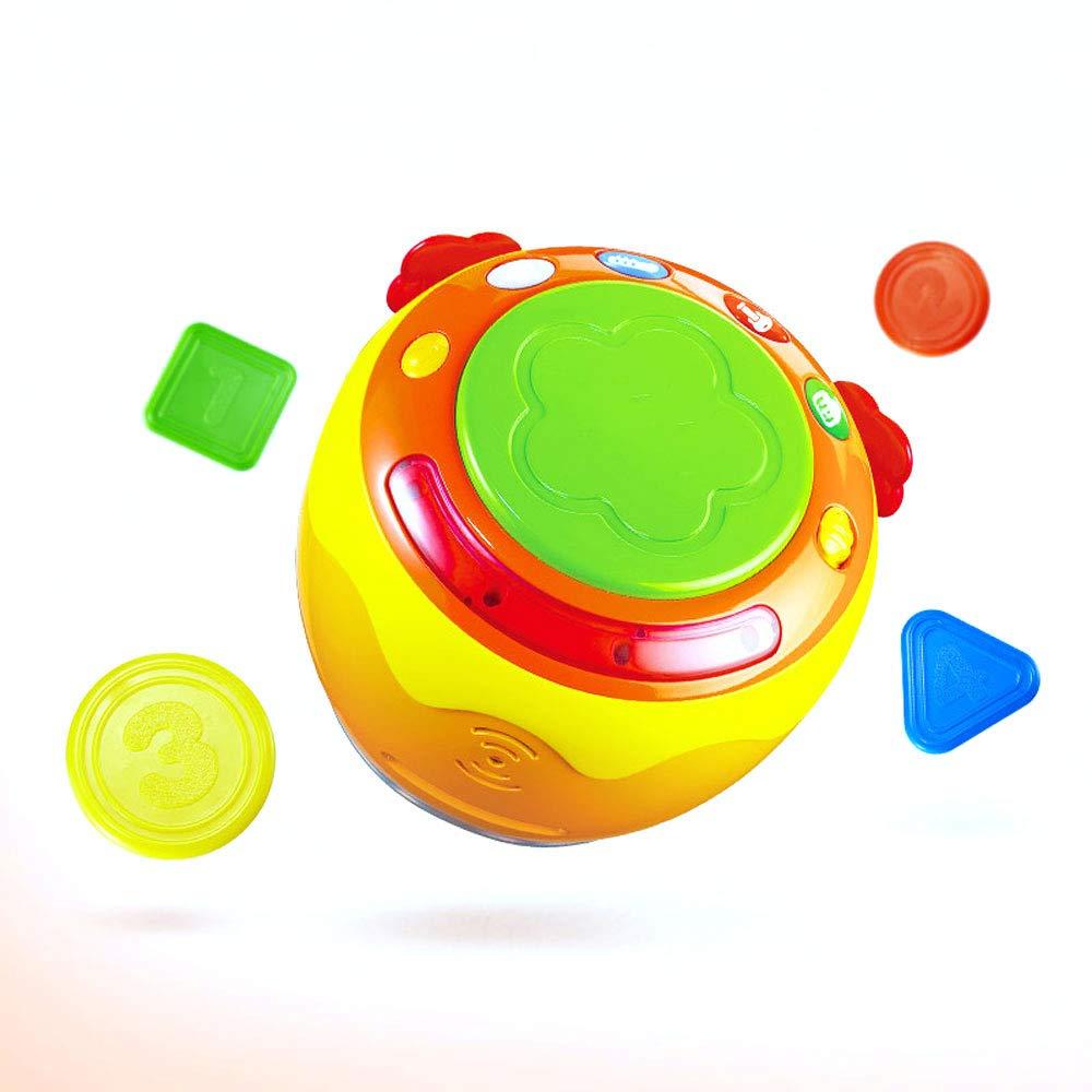 BLWX-giocattolo - Musica Pat Drum Baby Toy Drum Sound e Light Music Enlightenment Puzzle Uomini e Donne Baby Infant Regali Regali Giocattolo