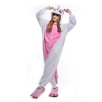 LPATTERN Cosplay Disfraz Pijamas Animales Carnaval Fiestas Partidos Franela Adultos Mujer Hombre Unicornio S Rosa
