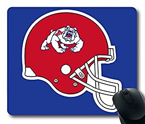 Custom Gaming Mouse Pad with Fresno State Bulldogs Helmet Non-Slip Neoprene Rubber Standard Size 9 Inch(220mm) X 7 Inch(180mm) X 1/8(3mm) Desktop Mousepad Laptop Mousepads Comfortable Computer Mouse Mat
