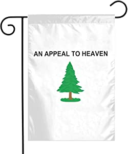 Pooizsdzzz Pine Tree-an Appeal to Heaven Garden Flag 12X18inch Decoration Banner Decorative Sweet Home Yard Festival Outdoor