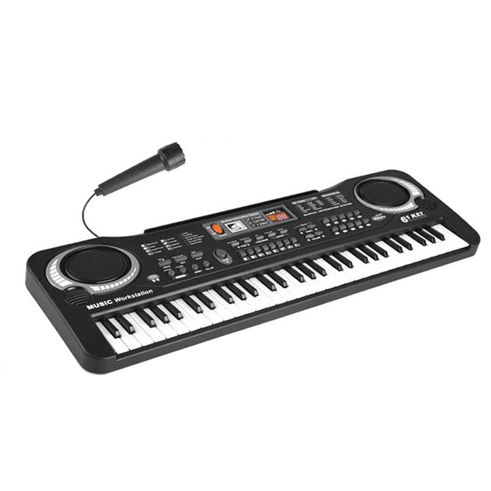 Funwill 61-Key Electronic Piano Keyboard Music Board Piano with Microphone