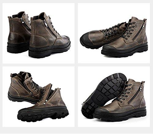 2017 Winter Männer Baumwolle Stiefel High Top Martin Stiefel Plus Plüsch Schnee Stiefel 37-44 Brown