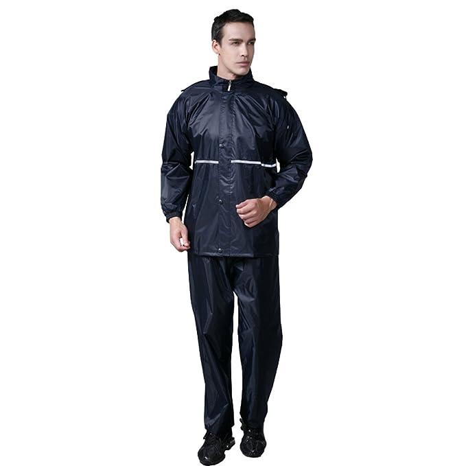 Amazon.com: LL Studio Double-Deck traje impermeable de PVC ...