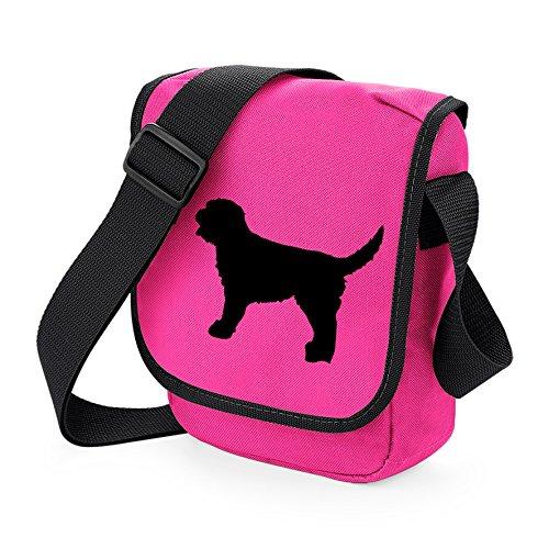 Labradoodle Bag Reporter Bag Shoulder Bag Labradoodle Silhouette Labradoodle Gift Choice of Colours Black Dog Pink Bag