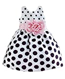 Hotone Baby Girls'  Polka Dot Flower Fancy Dress - 2-3 Years - White
