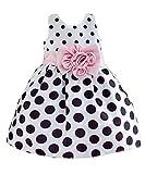 Hotone Baby Girls'  Polka Dot Flower Fancy Dress - 2-3 Years - White