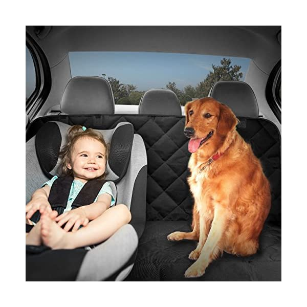 Mpow Dog Seat Covers Car Seat Cover For Pets 600D Waterproof Heavy Duty Pet Back Seat Covers With A Storage Bag Scratch Proof Nonslip Hammock For Cars Trucks And SUVs