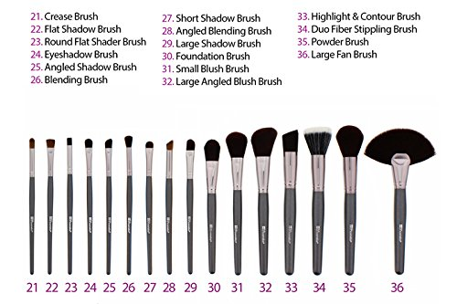 Ultimate 36 Teiliges Pinselset Amazonde Beauty